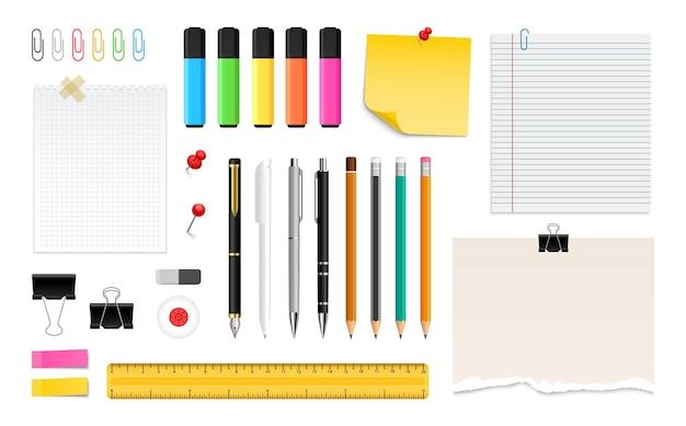 Papeterie de bureau pour dessiner et écrire stylos crayons et feutres de couleur