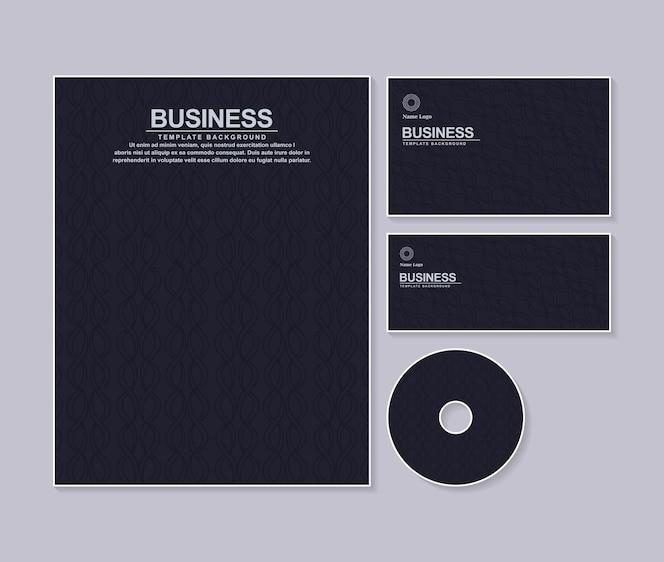 Papeterie d'entreprise de couleur sombre avec texture