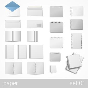 Papeterie feuilles de papier cahiers bloc-notes
