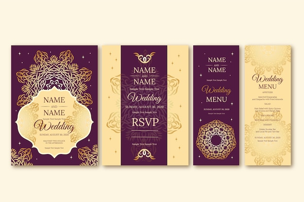 Papeterie de mariage élégante