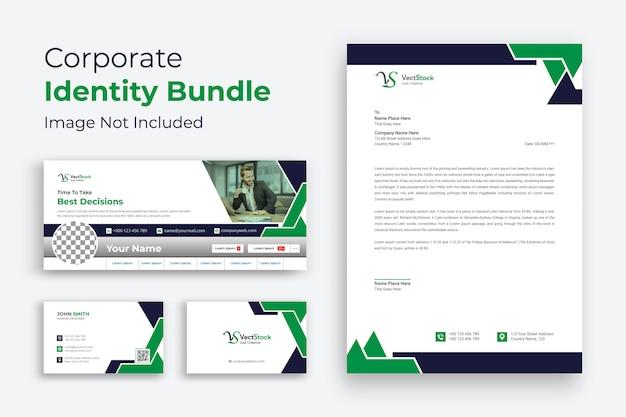 Papeterie de vecteur de conception d'identité de marque d'entreprise