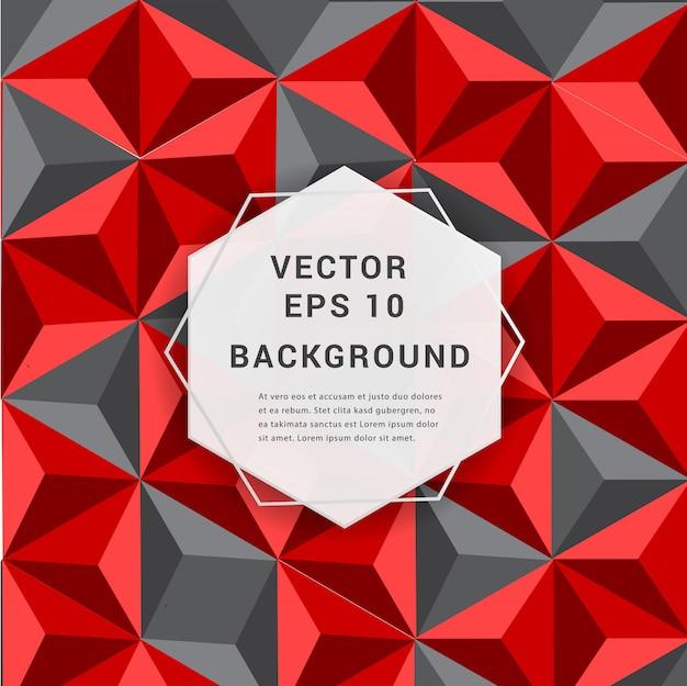 Papier abstrait 3d fond géométrique.