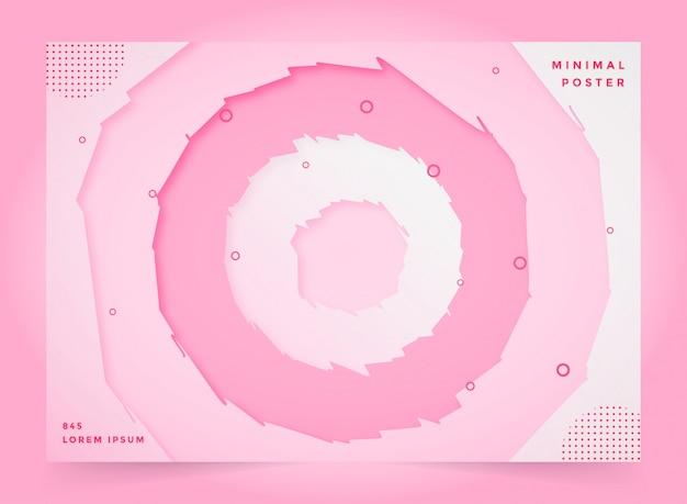 Papier Abstrait Cercle Abstrait Fond De Niveau Diffusif 3d Vecteur Premium