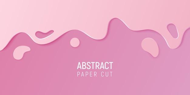 Papier abstrait coupé le fond de slime.