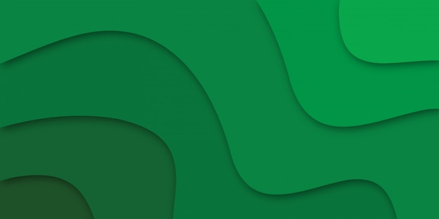Papier abstrait coupé vert.