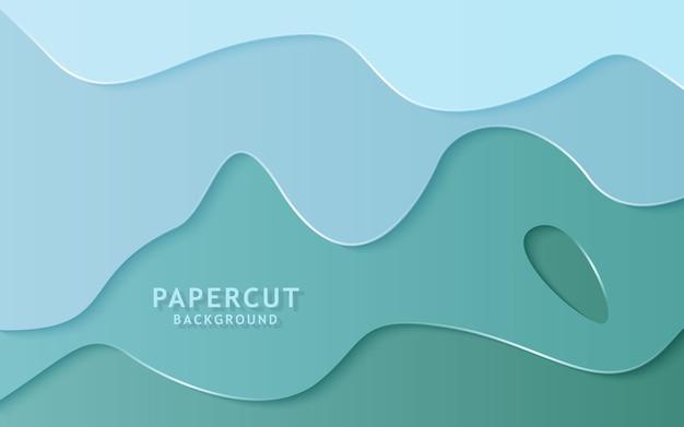 Papier abstrait moderne coupé de fond.