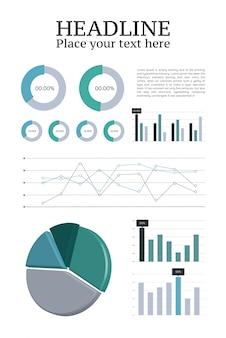 Papier d'analyse de données avec graphiques et diagrammes
