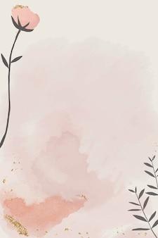 Papier aquarelle avec motif floral