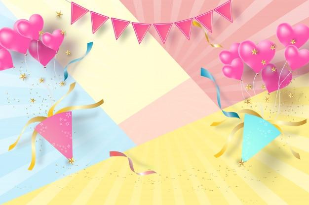 Papier d'art de fond joyeux anniversaire