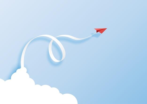 Papier art style de concept de leadership d'entreprise.