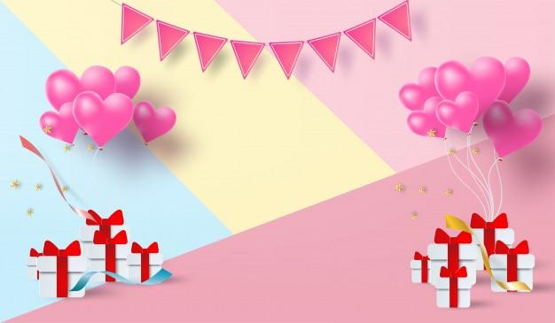Papier d'art de vecteur de fond joyeux anniversaire