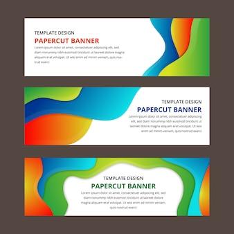 Papier bannière coupé texture pour couverture de la brochure