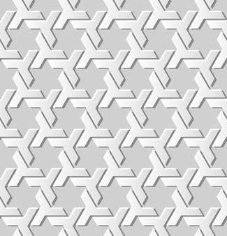 Papier blanc art géométrie croix fond transparent, décoration élégante de fond pour carte de voeux de bannière web