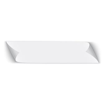 Papier blanc. bannière. ruban. illustration.