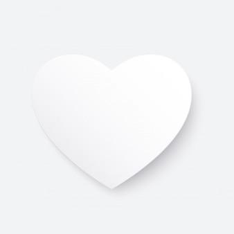 Le papier blanc a coupé le coeur d'amour pour la saint-valentin ou toute autre carte d'invitation d'amour