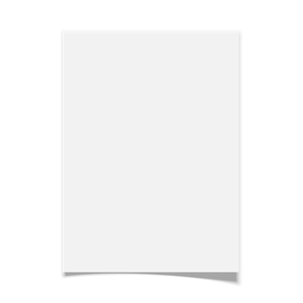 Papier blanc sur fond blanc. illustration.