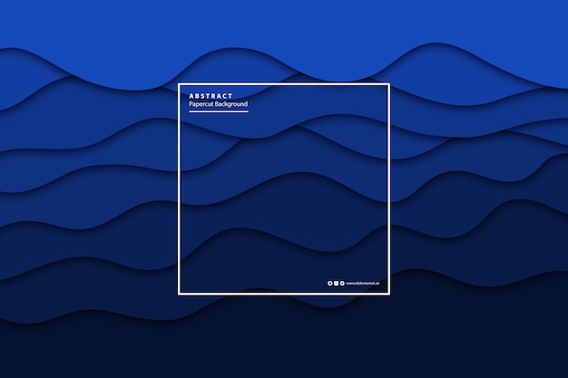 Papier bleu isolé réaliste de vecteur coupé fond de couche