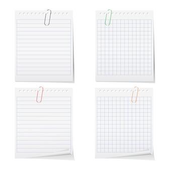 Papier de cahier