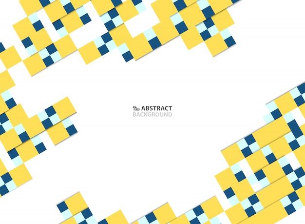 Papier carré coloré abstrait coupé de fond design moderne.