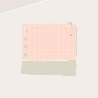 Papier carré rose pas de modèle d'annonces sociales