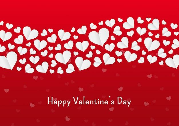 Papier coeur saint valentin