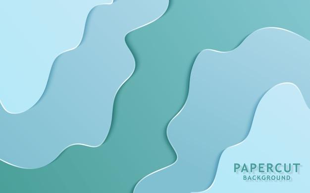 Papier de couleur douce abstraite coupé de fond.