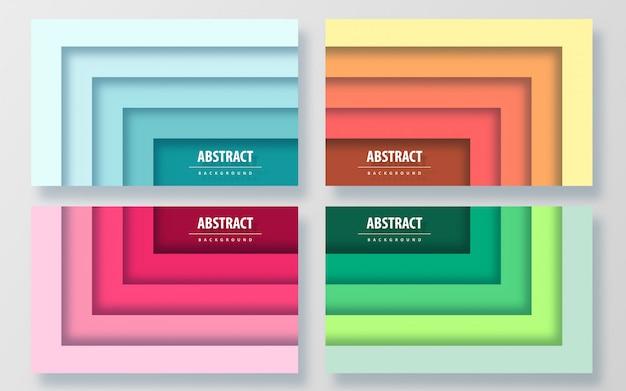 Papier coupé style abstrait coloré
