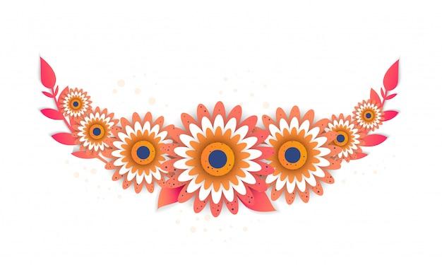 Papier coupé style de fleur lumineuse