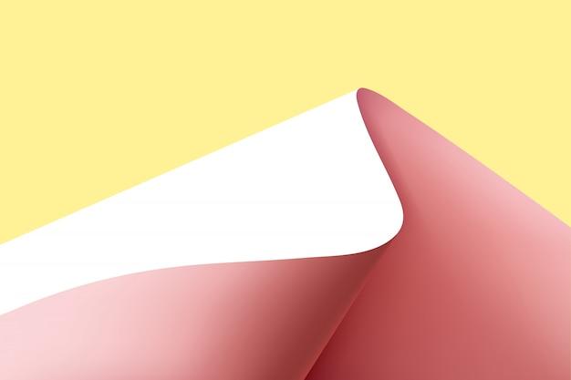 Papier courbé dans un fond de forme de montagne.