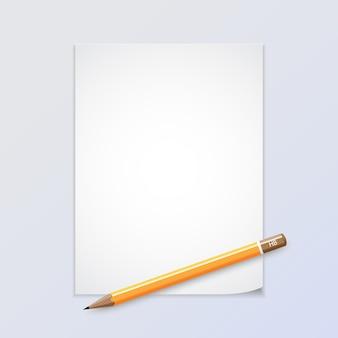 Papier avec crayon