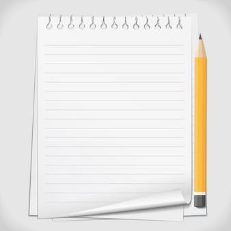 Papier avec crayon,