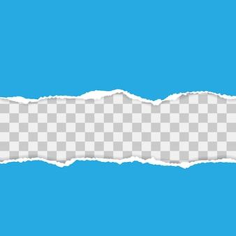 Papier déchiré bleu avec des ombres