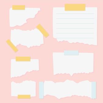 Papier déchiré avec collection de bandes