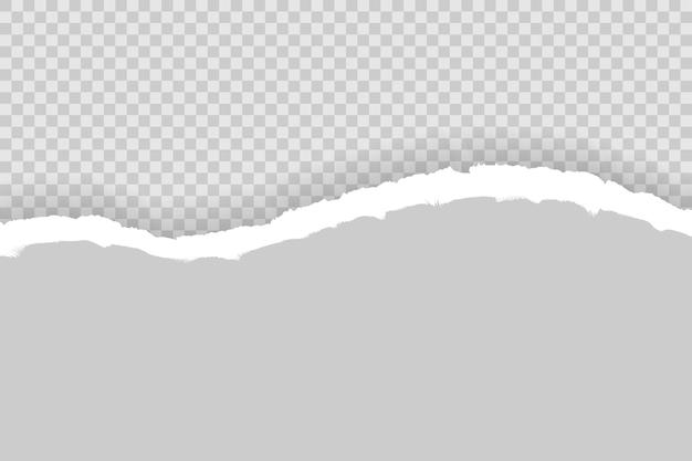 Papier déchiré avec un espace pour le texte avec un fond gris