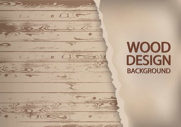 Papier déchiré sur fond de bois ancien.