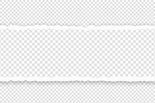 Papier déchiré avec illustration de bords déchirés