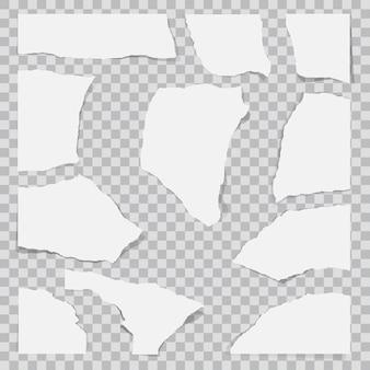 Papier déchiré en morceaux.