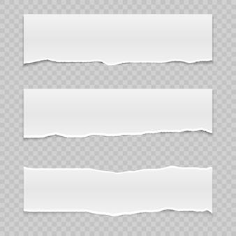 Papier déchiré réaliste avec des bords déchirés