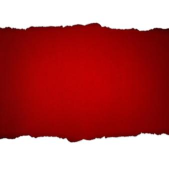 Papier déchiré rouge