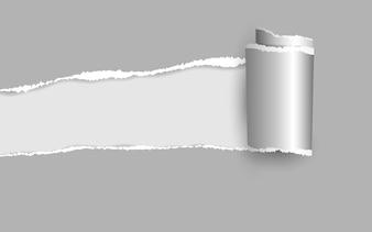 Papier déchiré.