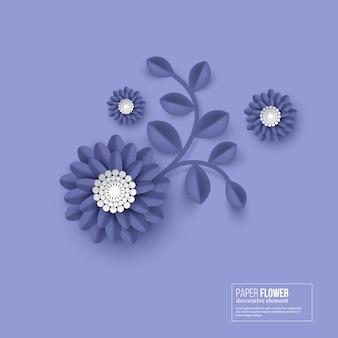 Papier découpé de couleur bleu fleur.