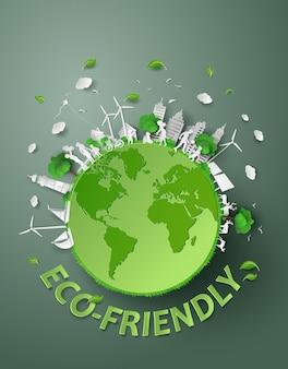 Papier Découpé D'eco Vecteur Premium
