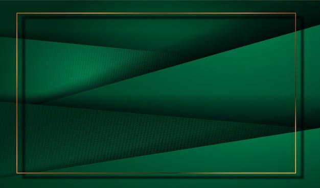 Papier découpé fond d'or de luxe avec texture élégante abstraite 3d
