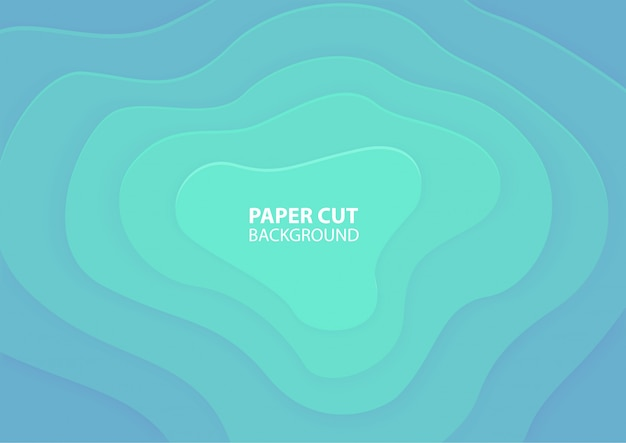 Papier découpé. fond d'origami