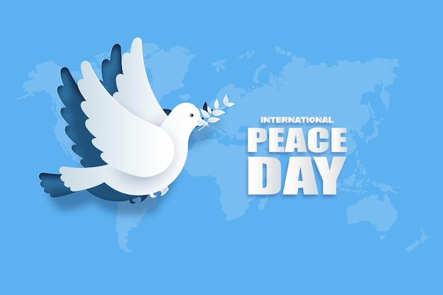 Papier découpé de la journée internationale de la paix.