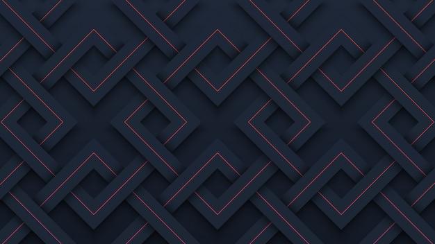 Papier découpé motif géométrique noir moderne fond