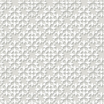 Papier découpé motif transparent ornemental.
