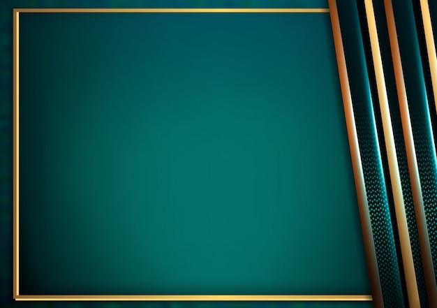 Papier découpé or élégant avec texture métallique verte 3d