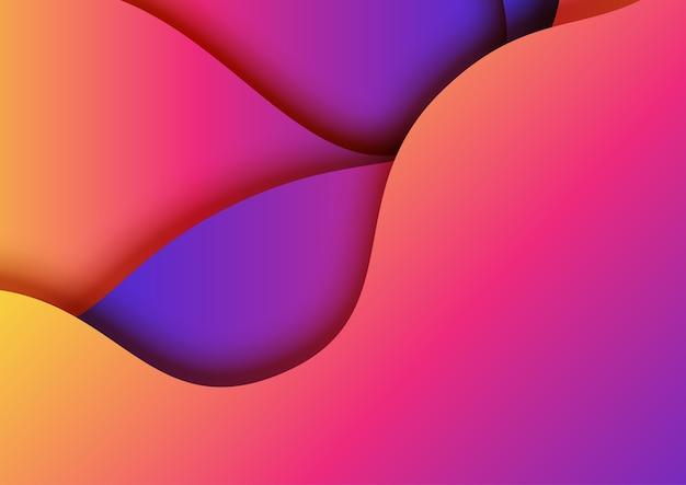 Papier dégradé fluide coloré couper fond abstrait.
