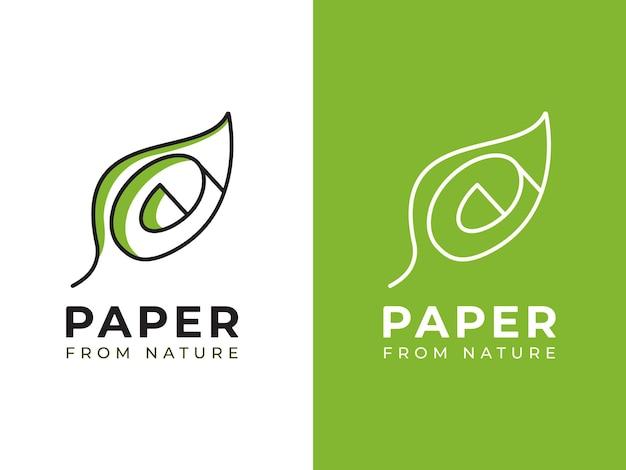 Papier du concept de conception de logo nature